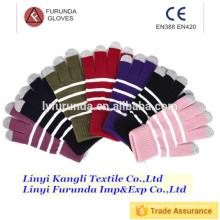 Luvas de tela de toque de fibra de carbono calibre 13