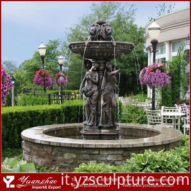 Antique Bronze Fountain