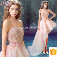 Heavy Appliqued Asymmmetrical Pink Off-Shoulder Kurzes sexy Alibaba Abendkleid