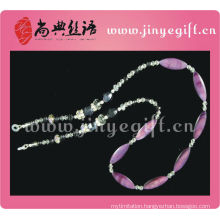 Fashion Jewellery Shell Crystal Bead Pink Eyeglasses Lanyard