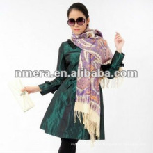 Duplex printing pasiley leopard, Guarantee fine pure wool scarves