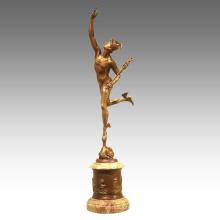 Mythology Figure Antique Statue Hermes Couple Bronze Sculpture TPE-946 / 947