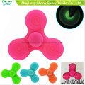 Comercio al por mayor Sillicone Glow en Dark Fidget Hand Spinner Adhd EDC Focus Ansiedad Toy