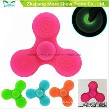 Wholesale Sillicone Glow in Dark Fidget Hand Spinner Adhd EDC Focus Anxiety Toy