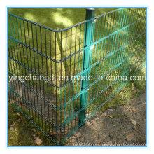 Valla de alta seguridad / Valla de malla de alambre doble / Valla de alambre de metal doble