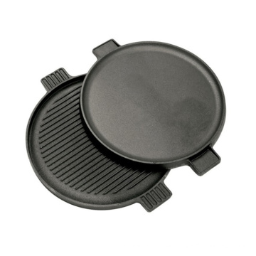 Garden Cooking Pre-Seasoned Reversible Cast Iron Round BBQ Grill Plate