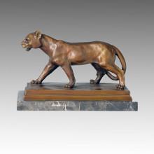 Tier Bronze Skulptur Löwe Carving Deco Messing Statue Tpal-089