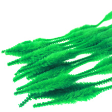 Dacron Bumpy Chenille Stam voor Kids Education Green