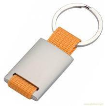 Textile Key Chain, Metal Key Ring (GZHY-KA-005)