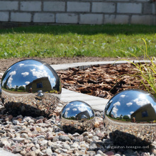 Mirror polished big diameter stainless steel 304 sphere for grass decoration