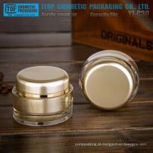 YJ-C30 30g por custo efetivo especial recomendado 1oz oval acrílico plástico luxuosos frascos cosméticos