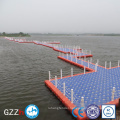 Floating walkway pontoon bridge