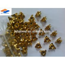 высокое качество gr5 титанового обтекателя втулки гайка-золотой