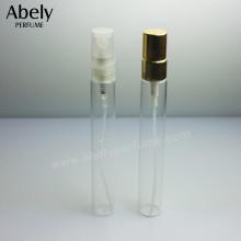 10ml Fragancia Spray frasco de perfume de tamaño de monedero en vidrio