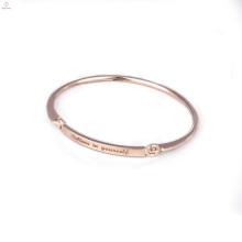 Initiales personnalisées bracelet estampillé bijoux gravés Inspirational Message bracelets