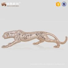 Kunst und Handwerk Dekoration Polyresin Leopard Statue für Garten Ornamente