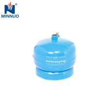 Cilindro de gás do lpg do tamanho 0.5kg mini, garrafa, tanque de propano