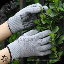 SRSAFETY самые дешевые пунктирные перчатки / рабочие перчатки / хлопчатобумажные перчатки