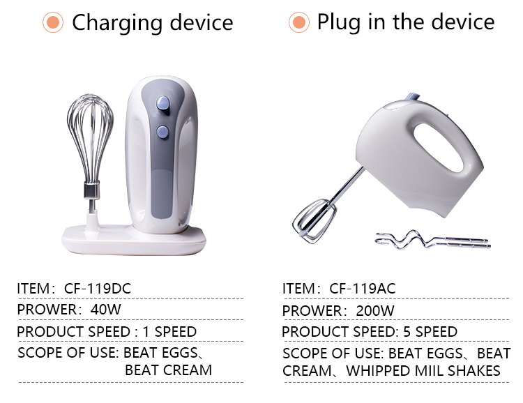 Rechargeable egg whisk