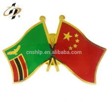 Custom cheap soft enamel gold Iran business country national metal flag lapel pins