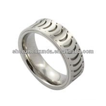 hot sale ring !!!high polished stainless steel ring with banana shape for men