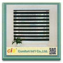 Listo cortina confeccionada 100% poliéster Zebra cortina de ventana