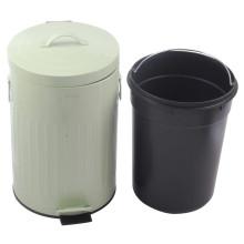 Металлическая мусорная корзина для офиса Foot Foot Pedal Step