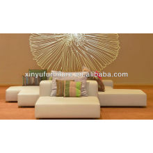 Leisure style recline upholstered ottoman XY0346