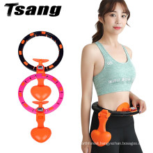 Auto Spinning Smart Hula Exercise Hoop Non-Drooping Weighted Ring Hoop