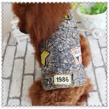 Cão de estimação gato macio jean denim filhote de cachorro casaco jaqueta roupas cãozinho vestuário
