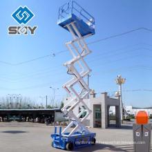 Plate-forme de fonctionnement hydraulique de ciseaux de type mobile, table élévatrice