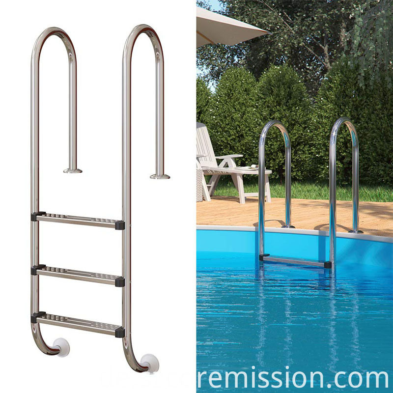 Double Sided Anti-slip Stainless Steel Swimming Pool Ladder