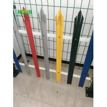 Powder coated high security steel fence