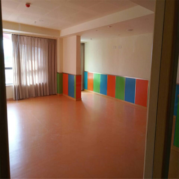 Color sólido Kids kindergarten used PVC floor
