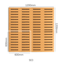 Hot Sale Factory Production Best Price Grooved Wood Timber Acoustic Panel for Meeting Room Soundproof System