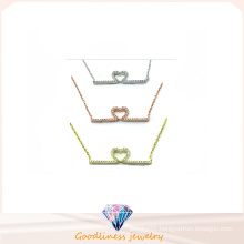 Woman Fashion Jewelry AAA CZ 925 Silver Necklace (N6642)