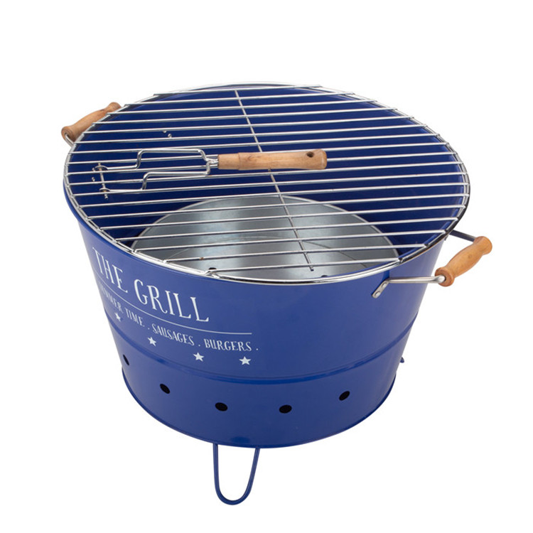 Blue Round Bbq Portable Bucket