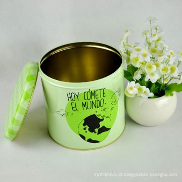 Round Cookie Tin Box / Tin Container / Tin Boxes para Cookies