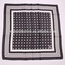 2014 latest 100% silk black polka dot scarf
