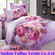 100% Poly Microfiber Printed Pongee for Bedsheet Fabric
