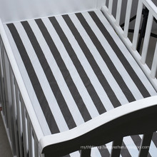 High quality jersey cotton crib sheet soft baby crib sheet
