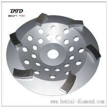 7 inch big curved segment diamond cup wheel