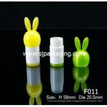 Cartoon Lip balm tube Rabbit Lipstick tube lip balm container
