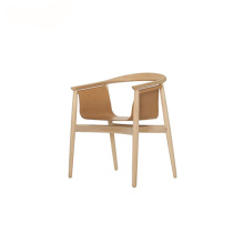 Zeitraum Freely Hanging Seat Armrest Pelle Chair