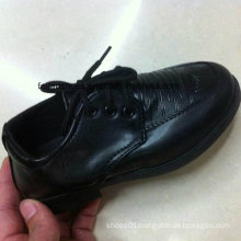 Cheap Children Black Casual Leather Shoes Stocks (FF525-1)