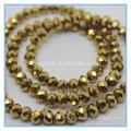 Goldfarbene rondelle perlen geschnittene glasperlen china
