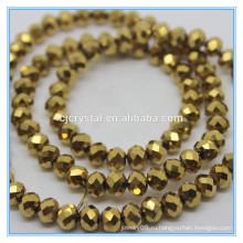 Золотые цветные рондель бисер вырезать стеклянные бусы фарфор