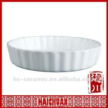 Microwave baking pie dish, ceramic pie plate
