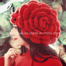 New Design Fashion Hand Crochet Knitted Lady Hat Beanie