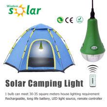 CE aprobado control remoto lámpara de carpa solar con cargador USB JR-SL988A